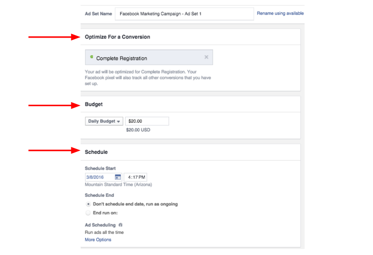 Facebook Ad Set Audience Segmentation