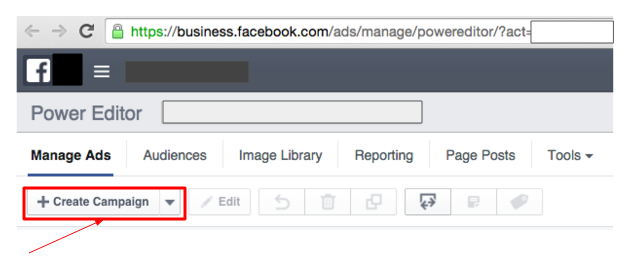 Facebook Power Editor + Create Campaign
