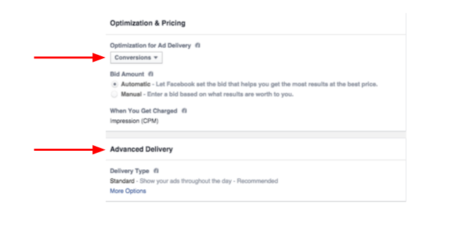 Facebook Optimization & Pricing